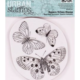 Docrafts / Papermania / Urban Papermania, sellos de goma, mariposas