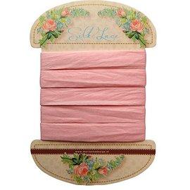 Marianne Design Marianne Design, Renda de seda rosa, 13 mm - 150 cm