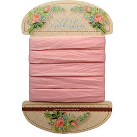 Marianne Design Marianne Design, Silk lace-rosa, 13 mm - 150 cm