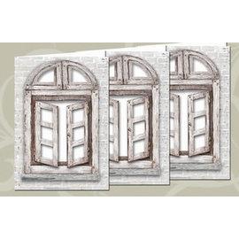 BASTELSETS / CRAFT KITS Conjunto de cartas: 3 cartas de janela + envelopes