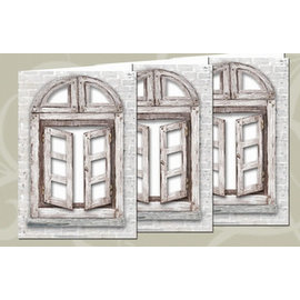 BASTELSETS / CRAFT KITS Set di carte: 3 carte per finestre + buste