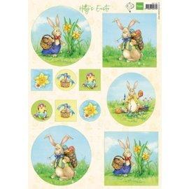 Marianne Design Folha de imagem A4, coelhinho da Páscoa
