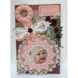 Dutch DooBaDoo Dutch Doobadoo, plastic stencil A5: Baby Rattle