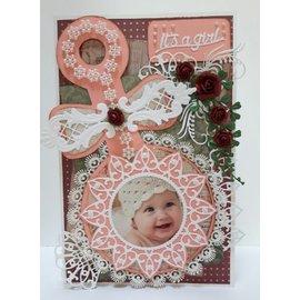 Dutch DooBaDoo Hollandske Doobadoo, plastik stencil A5: Baby Rattle