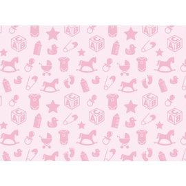 Spellbinders und Rayher Motifs bébé motif carton, 213x310mm, 190 g / m2, rose