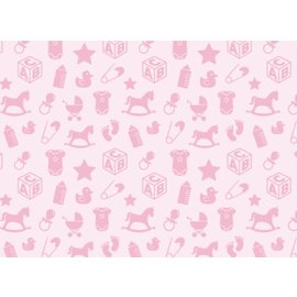 Spellbinders und Rayher Motivkarton Babymotive, 213x310mm, 190 g/m2, baby rosa