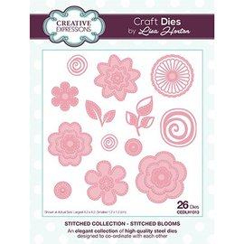 CREATIVE EXPRESSIONS und COUTURE CREATIONS CREATIVE EXPRESSIONS, Stanz- und Prägeschablone: Stitched Collection Stitched Blooms