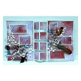 Dutch DooBaDoo Dutch Doobadoo, estêncil plástico, cartão Art Art Locks