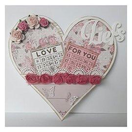 Dutch DooBaDoo Doobadoo holandês, estêncil plástico, cartão arte cavalete cartão coração