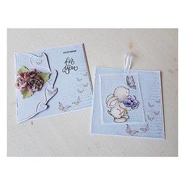 Dutch DooBaDoo Dutch Doobadoo, estêncil plástico, corações de arte de cartão