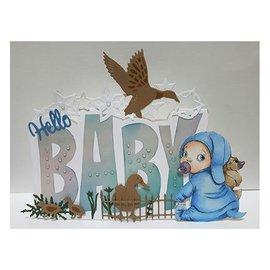 Dutch DooBaDoo Dutch Doobadoo, estêncil plástico, cartão Art Text 'Baby'