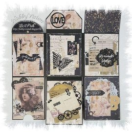 Joy!Crafts / Jeanine´s Art, Hobby Solutions Dies /  Scrapbooking Stencil, Mini Album