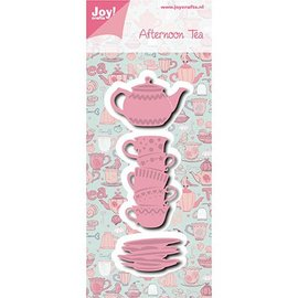 Joy!Crafts / Jeanine´s Art, Hobby Solutions Dies /  Joy! Crafts, modello di taglio e goffratura: tè pomeridiano Tassen + Teekanne