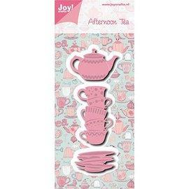 Joy!Crafts / Jeanine´s Art, Hobby Solutions Dies /  Joy! Plantilla de manualidades, corte y estampado: té de la tarde Tassen + Teekanne