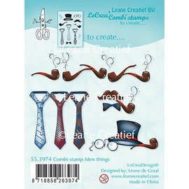 Leane Creatief - Lea'bilities und By Lene Leane Creatief, Transparent Stamp, Men Things