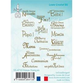 Leane Creatief - Lea'bilities Leane Creatief, gennemsigtigt frimærke, tekster på fransk