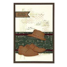 Leane Creatief - Lea'bilities Stanzschablonen: Men shoes & hat