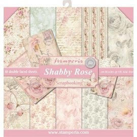 Stamperia NYHED! Stamperia: Scrapbooking Paperblock, Shabby Rose