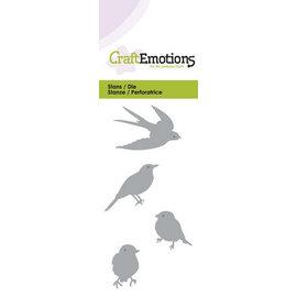 Crealies und CraftEmotions Stanzschablonen: Vögel