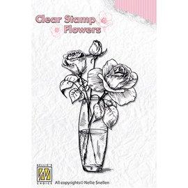 Nellie Snellen Nellie Snellen, Transparent frimærke: Roser