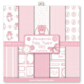 Stamperia Stamperia: scrapbog / kort papir, baby