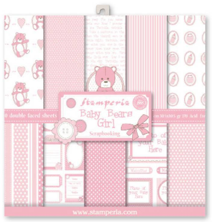 New Stamperia Scrapbooking Card Paper 305 X 305 Cm Baby
