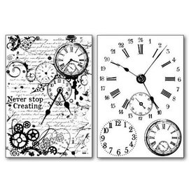 DECOUPAGE AND ACCESSOIRES Stamperia Transfer Paper A4 Clocks