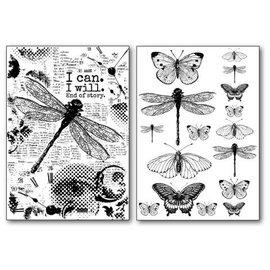 DECOUPAGE AND ACCESSOIRES Stamperia Overføringspapir A4, sommerfugle og dragonfly