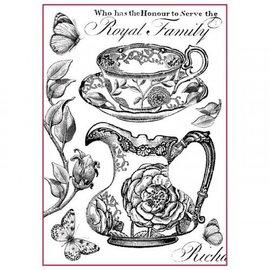 DECOUPAGE AND ACCESSOIRES Stamperia Riz Papier A4 Royal Family Noir & Blanc