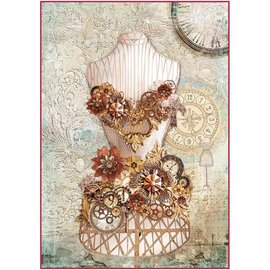 DECOUPAGE AND ACCESSOIRES Stamperia Rice Paper A4 Clockwise Mannequin