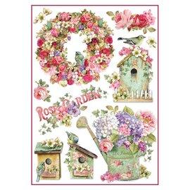 DECOUPAGE AND ACCESSOIRES Papier de riz Stamperia A4 Rose Garden