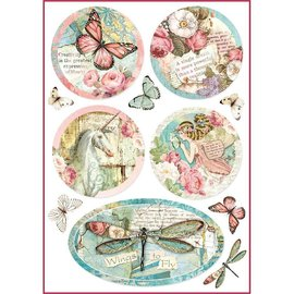 DECOUPAGE AND ACCESSOIRES Stamperia Carta di riso A4 Wonderland Fantasy Decorations