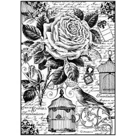 Stamperia Stamperia rijstpapier A4 vogelkooi