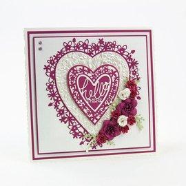 Tonic Tonic, Cutting and embossing Template: Coração de flor, 143 x 163 mm