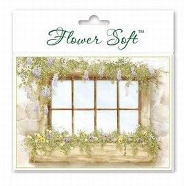 BASTELSETS / CRAFT KITS Flower Soft, 6 cartes avec motif de fenêtre fleurs