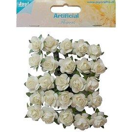 Embellishments / Verzierungen 25 hvide roser