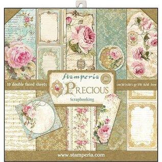 Stamperia NYHED! Stamperia: Scrapbooking Paperblock, Precious