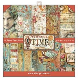 Stamperia NYHED! Stamperia: Scrapbooking Paperblock, Time er en illusion