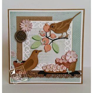 Joy!Crafts / Jeanine´s Art, Hobby Solutions Dies /  Joy!Crafts,  Stanz und Prägeschablone: Spring Love