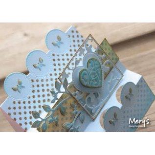 Joy!Crafts / Jeanine´s Art, Hobby Solutions Dies /  Stansning og prægning stencil: firkant med hjerte
