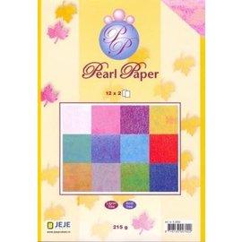 Karten und Scrapbooking Papier, Papier blöcke Bloc de papier A5, papier perlé, 12x2, 215g