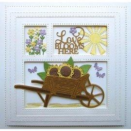 CREATIVE EXPRESSIONS und COUTURE CREATIONS plantilla de corte y relieve: carro de jardín de madera
