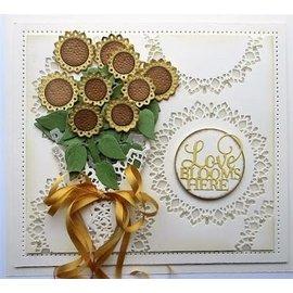 CREATIVE EXPRESSIONS und COUTURE CREATIONS plantilla de corte y relieve: ramo de girasol