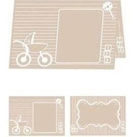 embossing Präge Folder Pasta De Gravação A4: Bebê