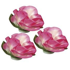 BLUMEN (MINI) UND ACCESOIRES Flores de papel, 15mm ø, 15 peças, rosa