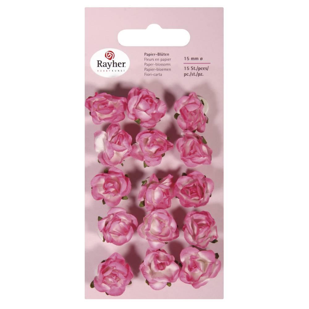 Papier Bluten 15mm O 15 Stuck Pink Ihr Www Hobby Crafts24 Eu