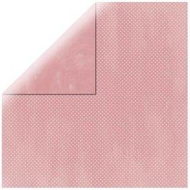 DESIGNER BLÖCKE / DESIGNER PAPER Carta da scrapbooking Double Dot rosa baby