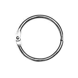BASTELZUBEHÖR, WERKZEUG UND AUFBEWAHRUNG 5 metalen ringen om te openen, 25 mm ø aan de binnenkant