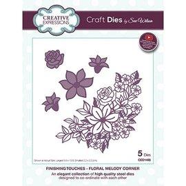 CREATIVE EXPRESSIONS und COUTURE CREATIONS Stanzschablonen: Blumen Ecke