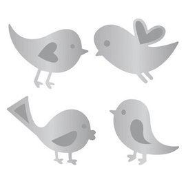 Joy!Crafts / Jeanine´s Art, Hobby Solutions Dies /  Joy!Crafts, cutting and embossing template: 4 birds